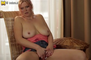 large breasted housewife mama getting moist