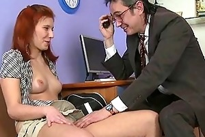 aged teacher is taking advantage of girl