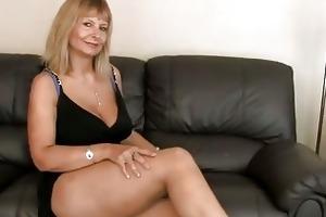 breasty older fingering her unshaved bawdy cleft