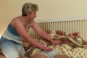 cock-hungry granny bonks her son-in-law