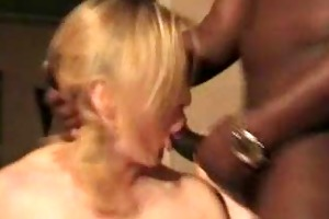 older white wife screwed by 3 bbcs. cuckold