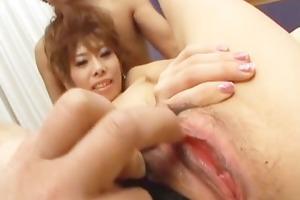 excited cougar receives weenies shoved in her