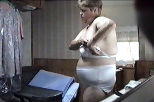 ex getting clothed in camper