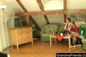 granny loses a wager and her snatch acquires