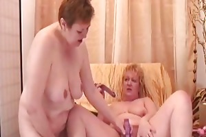 hot granny lesbians acquire off with erotic beads