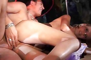 messy milfs wives girlfriends fuck in public party