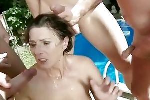 granny in bizarre pissing and oral sex act