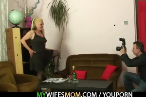 naughty mamma receives shagged after photosession