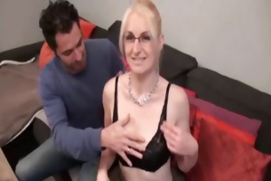missy a gorgeous blond analfucked in stockings