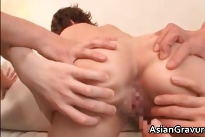 excited oriental mother i gets facial after part6