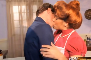 hdvpass hot redhead housewife raylene gives a