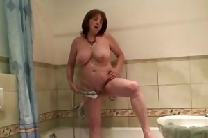 lewd son in law bangs her after shower