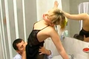hawt russian wife drilled whilst bathing