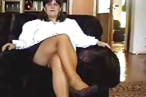 mama disrobes then receives her slit licked