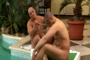 older double penetration in the pool