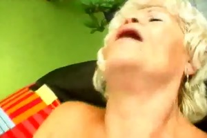 unshaved vagina blond granny fucked