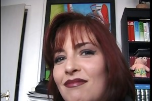 shy redhead mother i shows marangos after lengthy