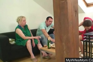 guy bangs his mother in law whilst wife away