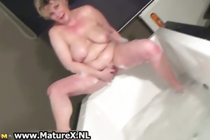 lascivious breasty aged mamma is stroking part4
