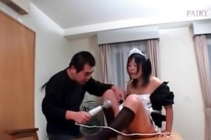 perverted older oriental maid receives hairy fur