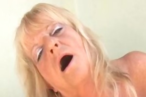 dirty old granny sucking a huge darksome pounder