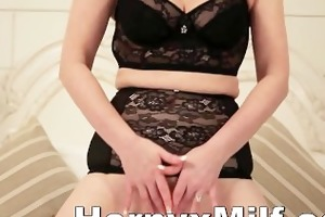 excited mother i rubbing and fingering cum-hole