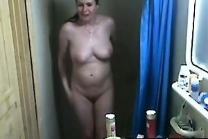 hidden livecam my showering mum 44 years