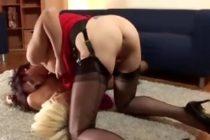 british aged lesbians in nylons finger their
