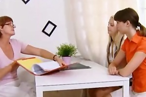 old lesbo teacher shows legal age teenager