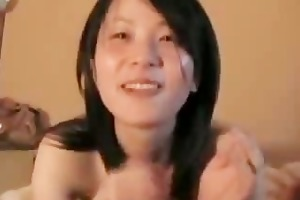 japanese wife sucks and swallows his load