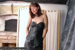 perverted brunette hair mother i undresses off