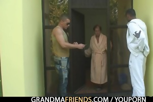 lonely grandma acquires pounded by buddies