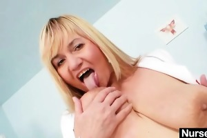 breasty lady irma got extremly bushy cum-hole