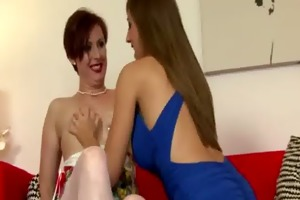 aged stocking lesbo wants that is youthful slit