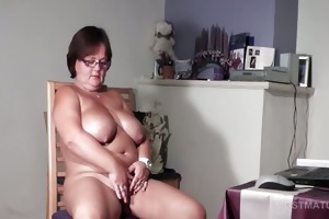 large titted older playgirl pleasuring her lewd
