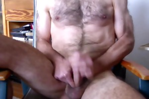 aged unshaved jerking off