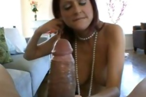 hungry red haired mama engulfing penis