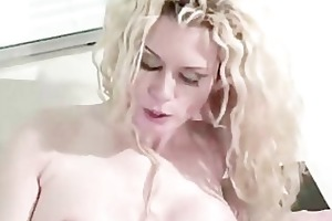 large titted mama sits on a rigid schlong big-tits