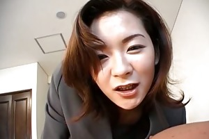 marvelous japanese mother i in an office suit