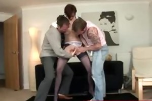 fellows have oral pleasure sex with aged lady