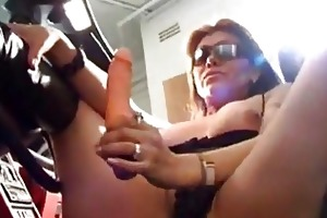 breasty older non-professional wife toying...
