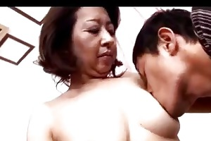 aged woman getting her nipps sucked bawdy cleft