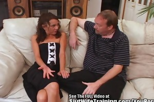 spunk swallowing whore wife railed hard!