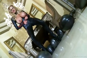 breasty kelly madison has latex longing