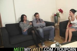 girlfriend bonks his entire family