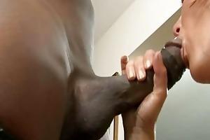 horny d like to fuck engulfing huge dark sausage