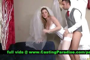 kayla paige stunning bride drilled realy hard