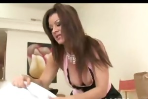 aged housewife receives filled