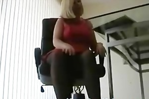 slutty british business woman in dark hose