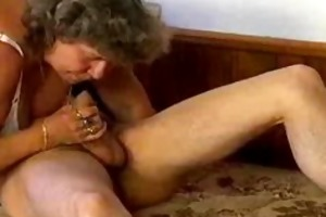 insane old mamma gets large knob oral-sex and in
